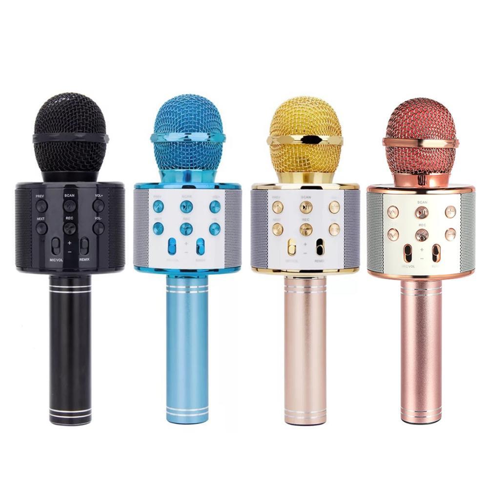 Wireless Bluetooth Karaoke Microphone 3in1 Handheld Karaoke Mic For Kids Christmas Gift Musical Stage Toy Music Singing Speaker