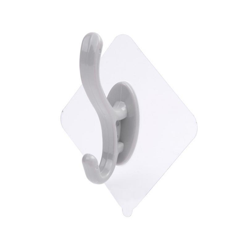 1pc Strong Transparent Self Adhesive Door Wall Hangers Suction Cup Sucker Wall Hooks Hanger For Kitchen Bathroom Accessories NEW
