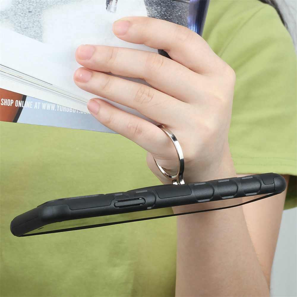 الفاخرة درع لينة للصدمات اغلفة السامسونج S8 S9 S10 زائد حامل حلقي غطاء حقيبة لهاتف سامسونج غالاكسي M10 M20 M30 ملاحظة 9 8 كابا