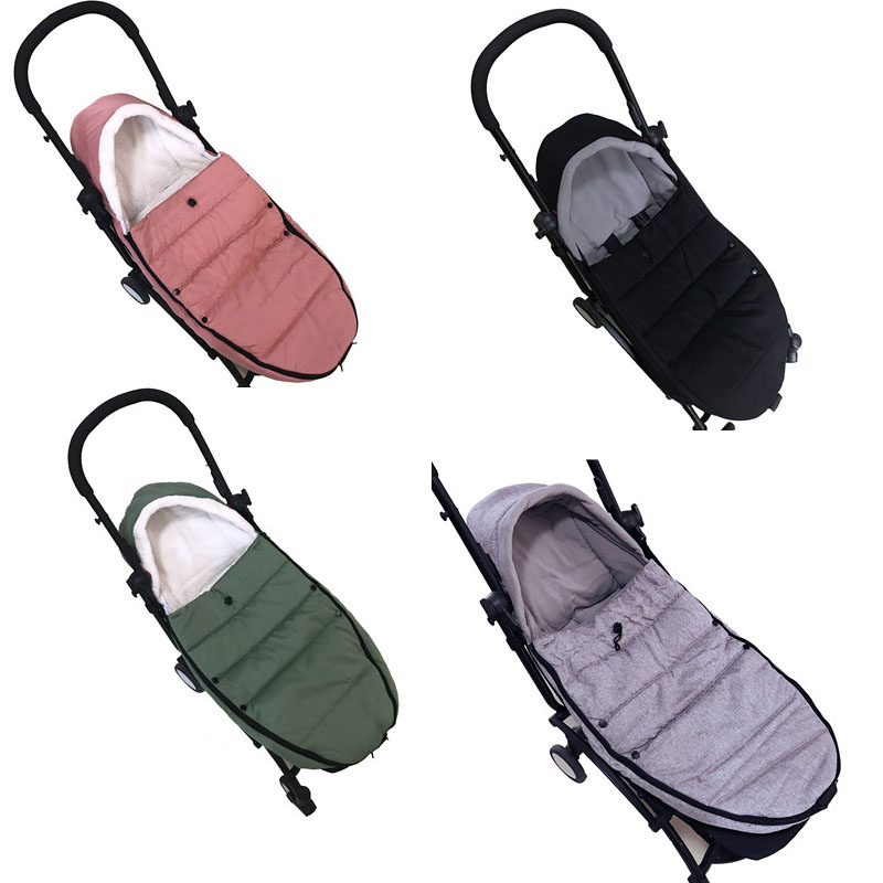 Baby Stroller Sleeping Bag Winter Slaapzak Warm Cover Foot Muff Envelop Babyzen Yoyo Yoya Pram Pushchair Stroller Accessorie-in Strollers Accessories from Mother & Kids