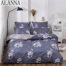 Solid-Bedding-Sets Alanna 4-7pcs Quality Print Home with Star-Tree Flower Lovely-Pattern