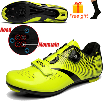 Discolor Cycling Shoes Man MTB Mountain Bike Shoes SPD Cleats Road Bicycle Shoes Sports Outdoor Training Cycle Sneakers 11