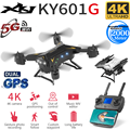 XKJ Nuovo Arrivo KY601G GPS Drone Quadcopter con 5G 4K HD Della Macchina Fotografica 2000 Metri Distanza di Controllo RC Elicottero droni Pieghevole Giocattolo