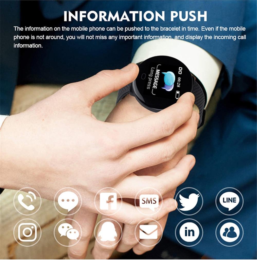 Hef64875b9c2845f480da9cfdbe33ac8fY Smart Bracelet 1.3'' Screen Pedometer Fitness Tracker Ip67 Waterproof Blood Pressure Heart Rate Monitor Smart Band Women Men