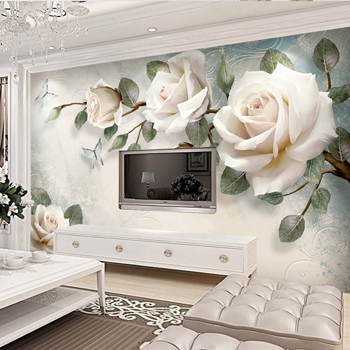 3D Chinese Style TV Backdrop Wallpaper Living Room Relief Wallpaper Large Mural Good Luck