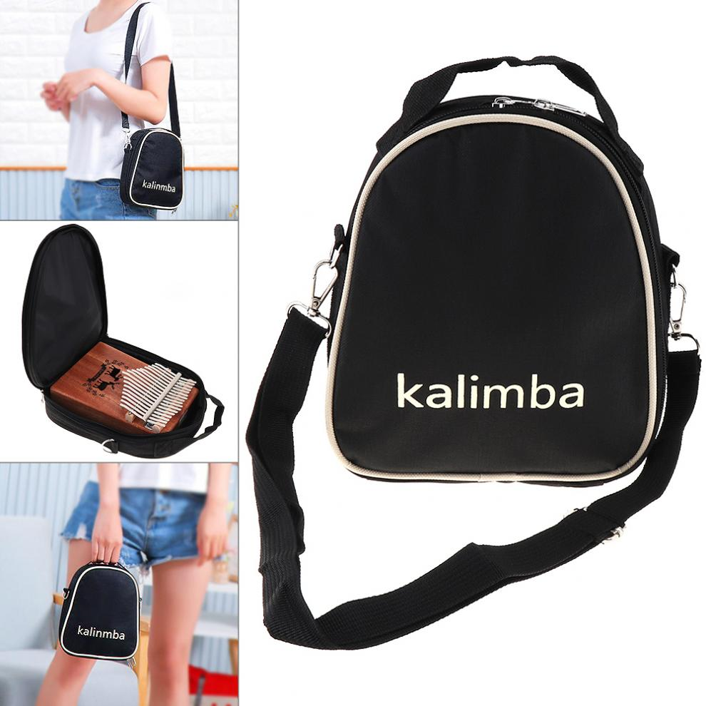 Kalimba Storage Bag  17 / 15 / 10 Key Universal Thumb Piano Mbira Soft Case Oxford Cloth Inside Cotton Shoulder Portable Bag