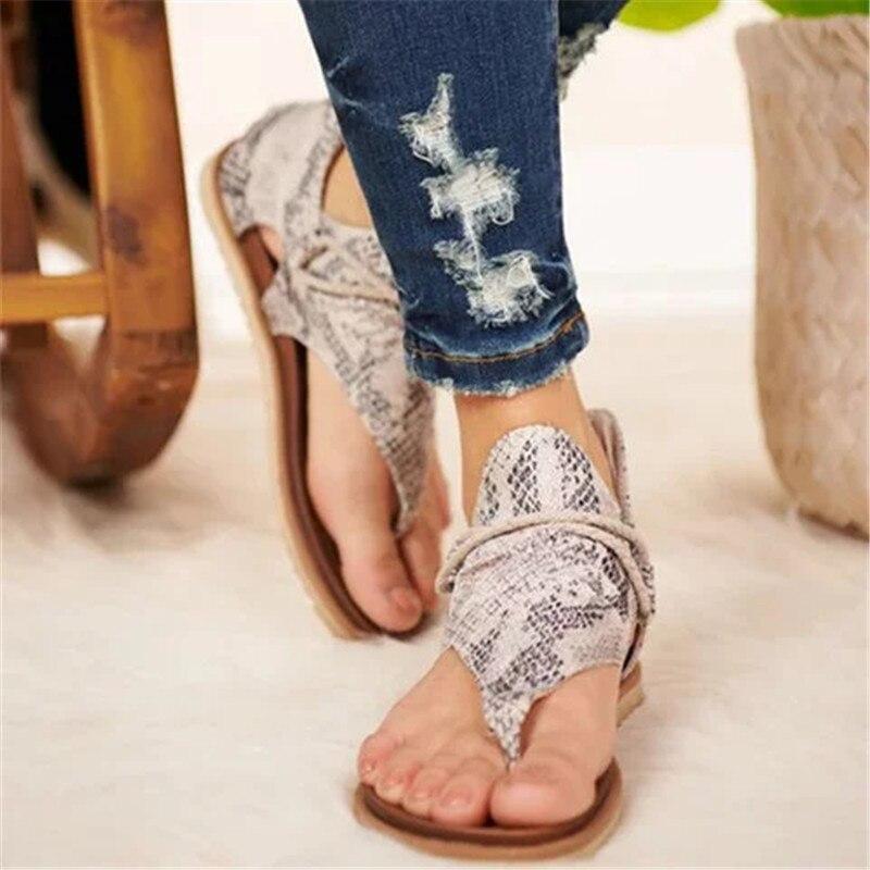 NEW Women Sandals Leopard Print Summer Shoes Women Large Size Andals Flat Women Sandals Womens Summer Shoes Sandals босоножки