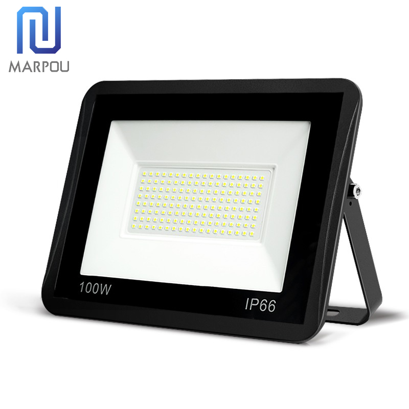 LED Floodlight PIR Motion Sensor 10W 20W 30W 50W 100W 220V Waterproof IP66 Spotlight Reflector Focus Lamp Home Courtyard Outdoor