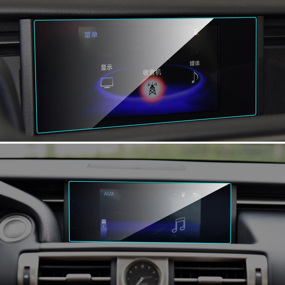 Protector de pantalla de coche para Lexus IS200t IS250 IS300 IS350 IS serie Interior de navegación GPS de coche película protectora de pantalla de vidrio templado Nuevo Multi Color USB Iluminación led interior de coche Kit atmósfera luz neón lámparas