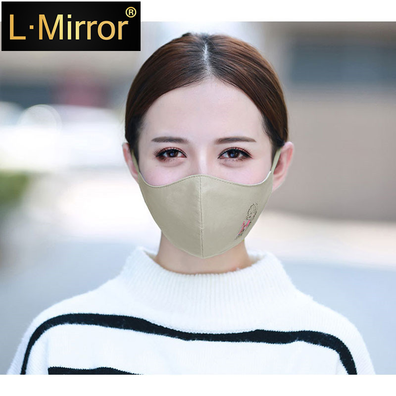 L.Mirror 1PCS Cotton Dustproof Allergy Flu Girls Mouth Face Mask Cartoon Girls Muffle Face Mouth Masks Reusable