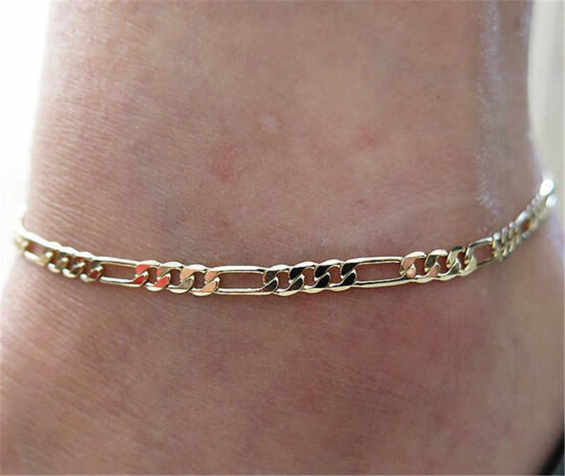 新着ゴールドチェーンpulsera tobillo足首のブレスレット足に女性のためのアンクレットファッションフットチェーンジュエリー高品質