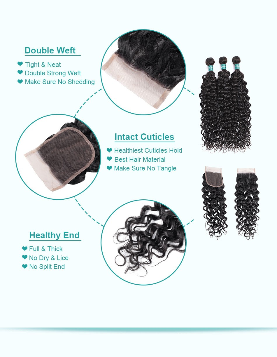 water wave hair weave 3 4 bundles with closure--3+4_07