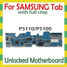 Entsperrt Motherboard Für Samsung Galaxy Tab 2 10,1 P5110 P5100 Tablet WLAN Celluar logic board mit full chips mainboard Android
