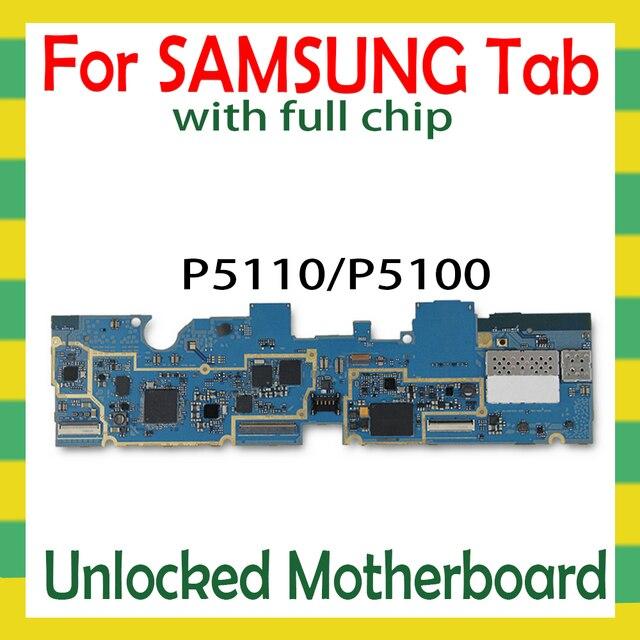 סמארטפון האם עבור Samsung Galaxy Tab 2 10.1 P5110 P5100 Tablet WLAN Celluar היגיון לוח עם מלא שבבי mainboard אנדרואיד