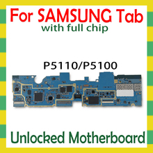Unlocked Motherboard For Samsung Galaxy Tab 2 10.1 P5110 P5100 Tablet WLAN Celluar logic board with full chips mainboard Android