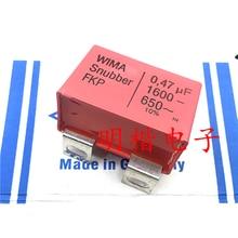 4PCS/10PCS German original capacitance WIMA Snubber FKP 1600V 0.47UF 1600V474 470NF iron foot FREE SHIPPING