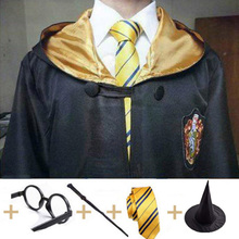 Hufflepuff Potter Cosplay Costumes Magic Cape Robe Cloak Gryffindor Slytherin Ravenclaw Clothing Birthday Gifts