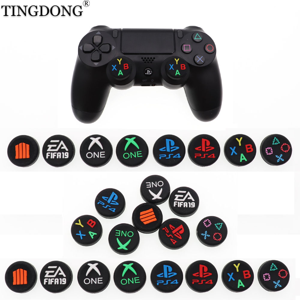 Thumb Stick Grip Cap ABXY Logo Joystick Cover Case For Sony Dualshock 3/4/5 PS3 PS4 PS5 Xbox One 360 Slim Switch Pro Controller