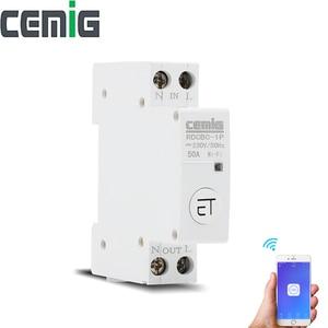 Image 1 - WiFi 지능형 회로 차단기 릴레이 유형 1P Din 레일 원격 제어 eWeLink APP Smart Home Alexa google과 호환 가능