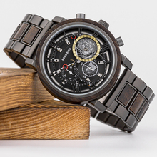 BOBO BIRD 2021 Wood Watch Men Top Brand Luxury Chronograph Military Waterproof Watches Great Valentine's Day Gifts for Husband