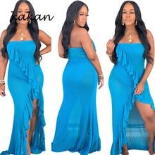kakan Best selling new fashion sexy dress split long womens ruffled 2019 summer
