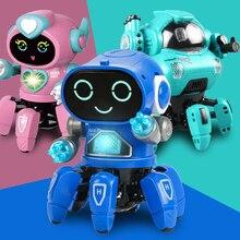Танцевальная музыка 6 когтей робот Осьминог паук робот автомобиль подарок на день рождения игрушки для детей раннее образование детская иг...
