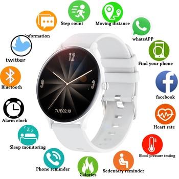2020 New Color Full touch screen Women Smart Watch Men Waterproof fitness multifunctional Sport watch Heart rate blood pressure