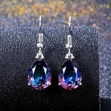 2020 Fashion Crystal Rhinestones Earrings Water-Drop Elegant Long Dangle Jewelry Weddings Accessories Girl Gift