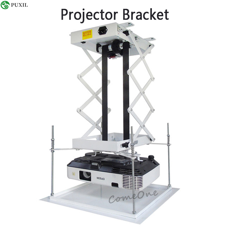 70CM Motorized Electric Riser Projector Holder Scissors Projector Ceiling Mount Riser Projector With Remote Control
