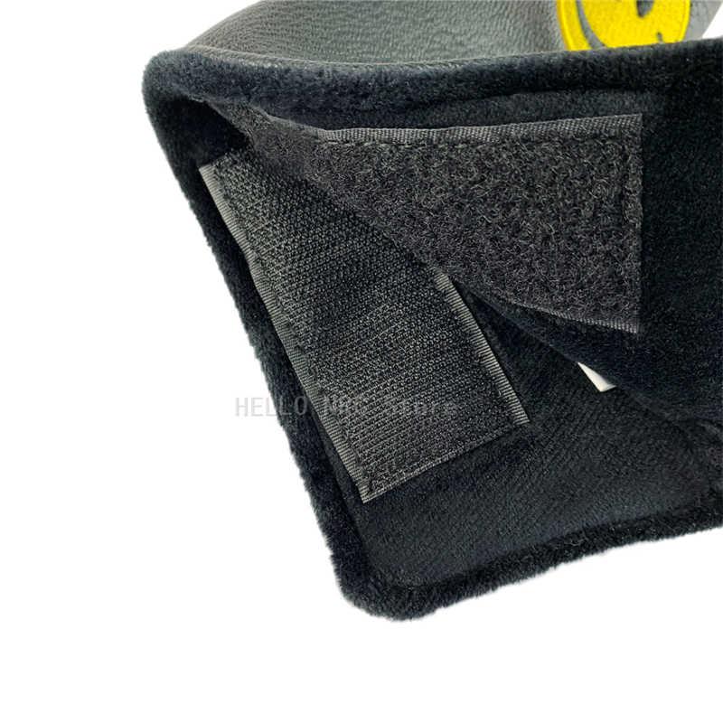 Клюшки для гольфа головные уборы клюшки вышивка в виде улыбающихся рожиц из искусственной кожи застежка-липучка черный