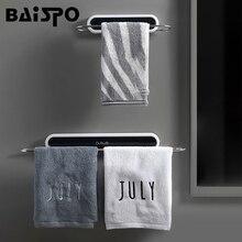 BAISPO étagères de salle de bain sans poinçon, mural porte serviettes, pour maison et cuisine, organisateur darticles ménagers, accessoires de salle de bain