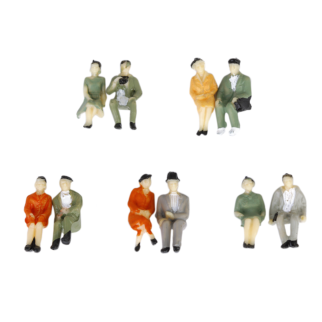 24 Lot 1/87 <font><b>Scale</b></font> Painted Model Train Park Street Passenger People-Seated Seated People Passangers <font><b>Figures</b></font> <font><b>Scale</b></font> HO P87-12 image