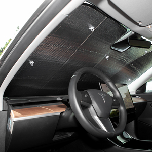 Image 3 - Heenvn Model3 Car Sun Shades Windshield For Tesla Model 3 Accessories Sunshade Shade Visor Front Cover Anti UV Protected Three