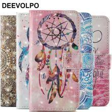 DEEVOLPO Cute Leather Case For Huawei P9 P8 Lite 2017 P9Lite Beautiful Mandala Bells Chimes Wallet Flip Cover Bag DP03E