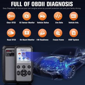 Image 3 - Autel ML629 Maxi Link Diagnose Werkzeug Auto OBD2 Scanner Code Reader ABS Airbag Code Reader Upgrade Autel ML619 AL619