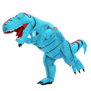 Image 3 - T REX Inflatable Dinosaur Costume for Adult Kids Men Women Halloween Costume Dino Cosplay  Cartoon Anime Party