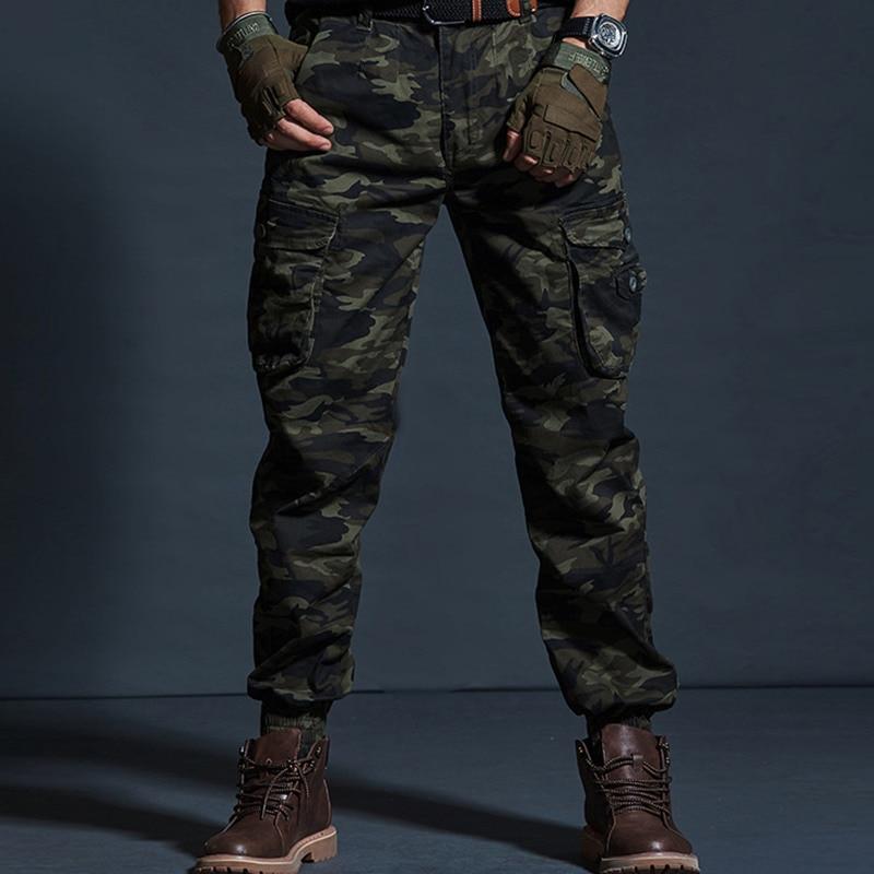 Pantalones Casuales De Color Caqui De Alta Calidad Para Hombres Pantalones Militares Tacticos Para Correr Con Diseno De Camuflaje Pantalones De Carga Con Multiples Bolsillos Pantalones De Moda Negros Del Ejercito