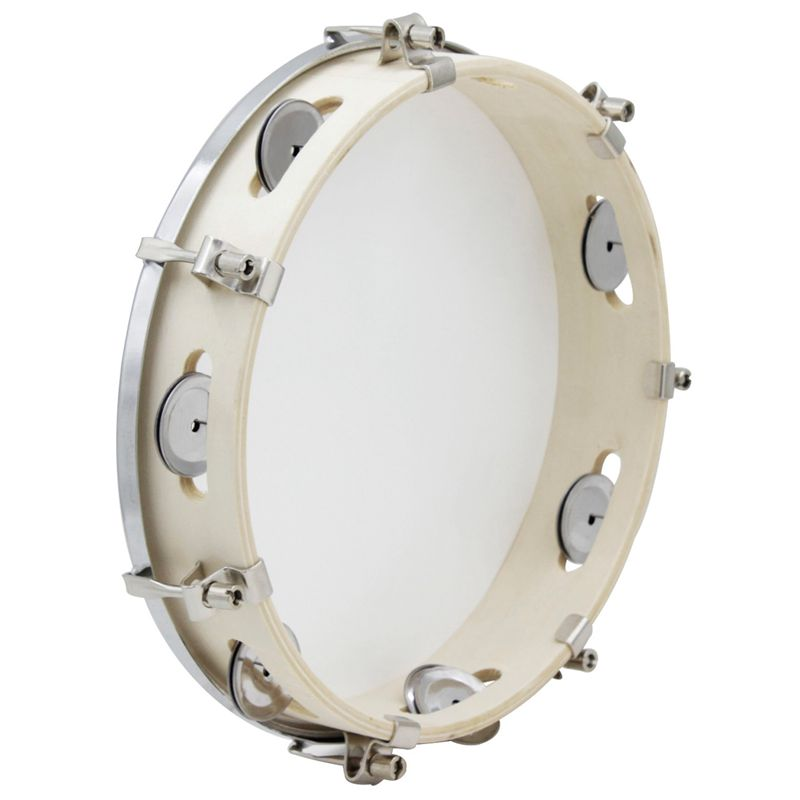 10 In Tambourine Capoeira Leather Drum Tambourine Samba Brasil Wooden Tambourine Precussion Music Instrument For Sale 150 D