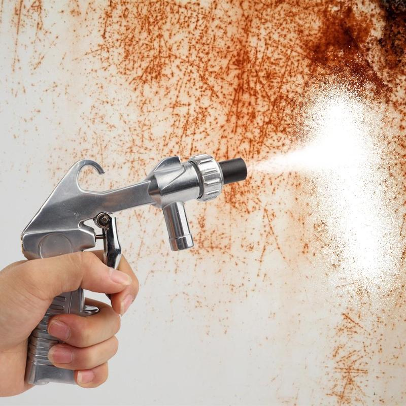 Sandblaster Air Siphon Feed Blast Nozzle Ceramic Tips Abrasive Sand Blasting With 4pcs Ceramic Nozzles Abrasive Tools