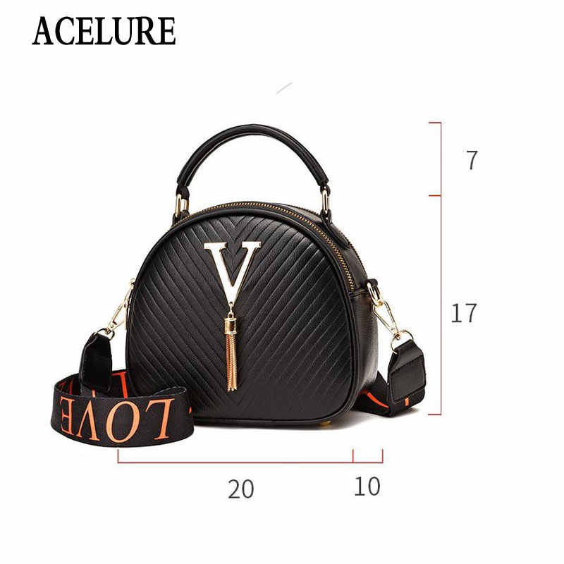 Acelure Mode Mini Vrouwen Schouder Crossbody Tassen Solid Pu Lederen Kleine Handtassen Winkelen Purse Tassel Decor V Messenger Bags