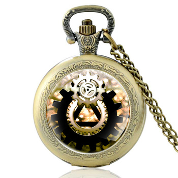 Classic Retro Bronze Punk Style Steampunk Quartz Glass Dome Pocket Watch Vintage Men Women Necklace Pendants Watch Jewelry Gifts classic antique black steampunk gear glass dome punk style quartz pocket watch charm men necklace pendant jewelry birthday gifts