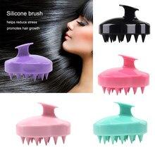 El silikon saç derisi şampuanı masaj fırçası çamaşır duş saç masaj temiz fırça banyo duş saç temizleme fırçası tarak