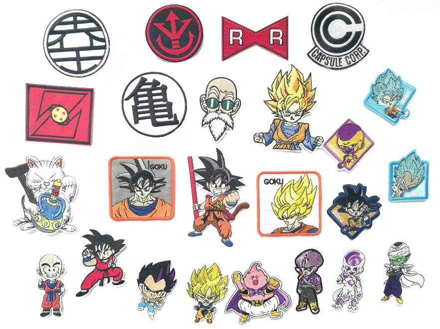 Dragon Ball Embroidery Cloth Sticking Children's Clothing Accessories With Back iron on patches badge