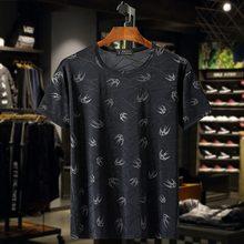 Мужская футболка с коротким рукавом и 3D-принтом, размеры до 10XL