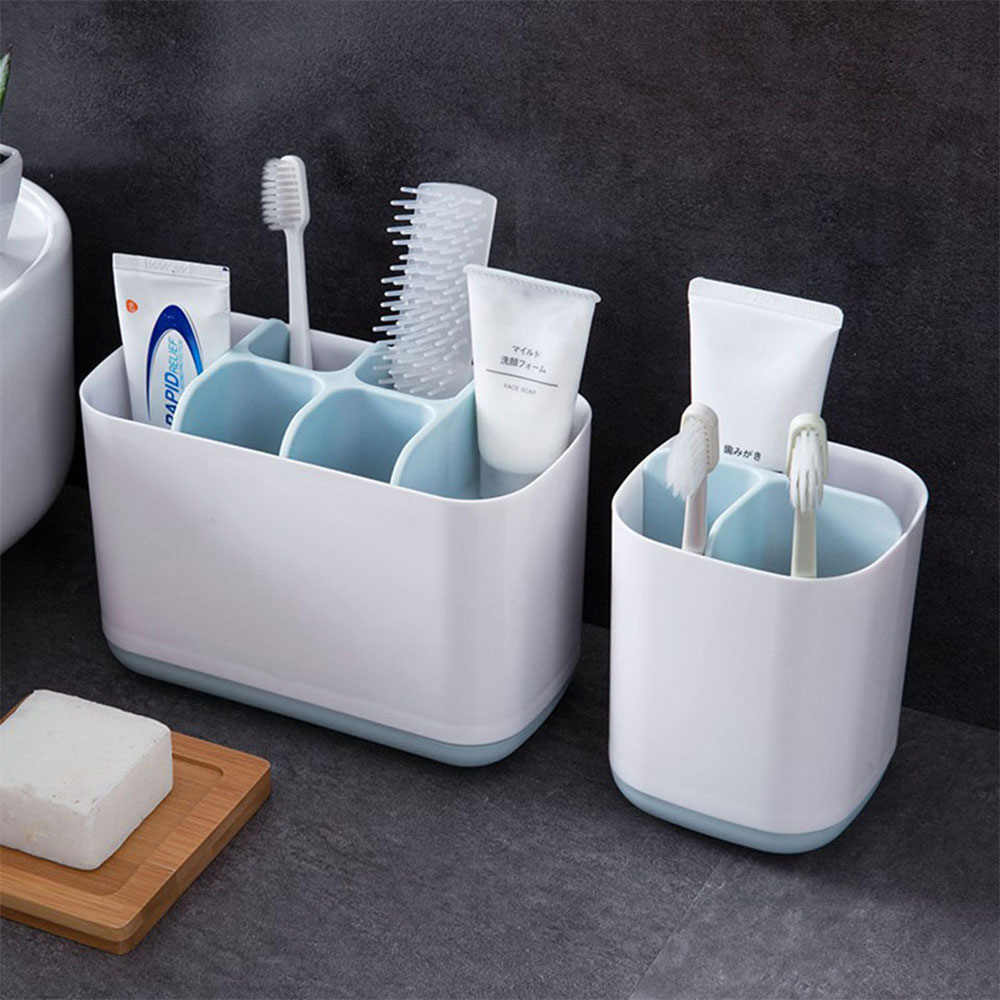 Toothbrush Holder Shaving Makeup Brush Electric Teeth brush Toothpaste   Holder Organizer Case Stand Bathroom Accessories