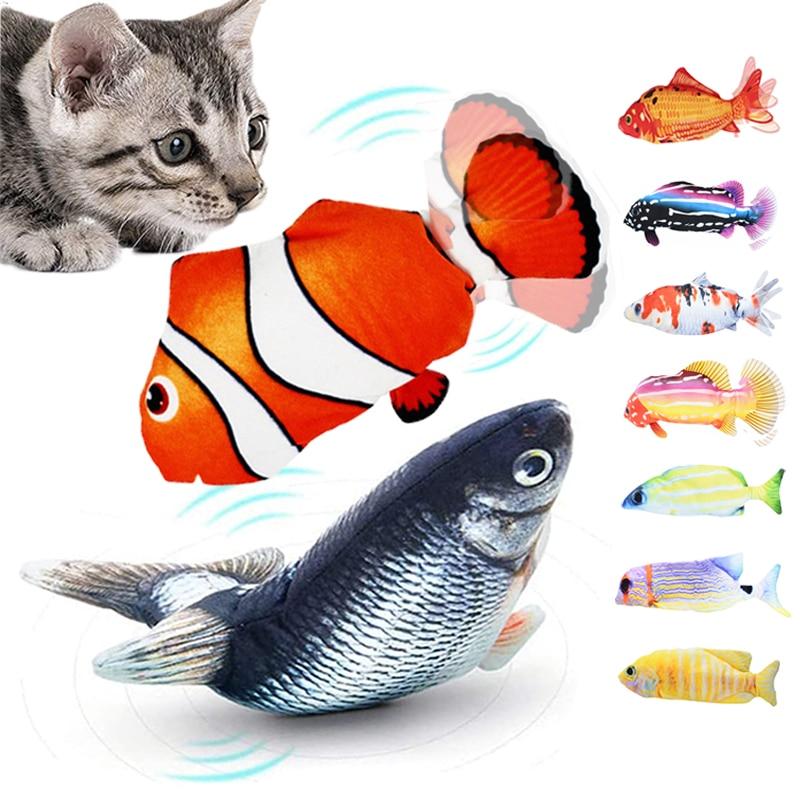Игрушка для кошки, рыба с зарядкой от USB, имитация кошачьей мяты 1