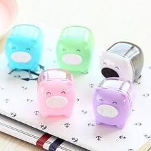 1 Pcs Deli Cute Kawaii Animal Pig Sweet Candy Colored Pencil Sharpener Korean Kids School Supplies Stationery