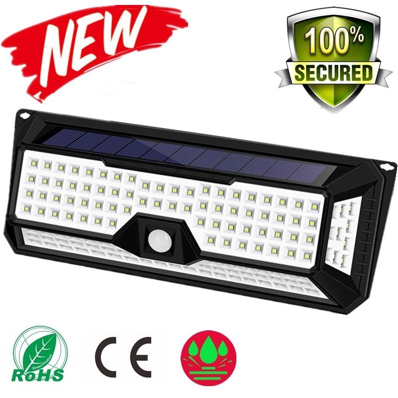 180/136 LED Garden Solar LED Lights 1500LM Outdoor Solar Lamp Motion Sensor 320 Degree Waterproof IP65 Solar Security Light