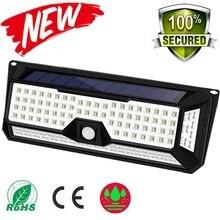 180/136 LED גן שמש LED אורות 1500LM חיצוני שמש מנורת חיישן תנועת 320 תואר עמיד למים IP65 אבטחת שמש אור