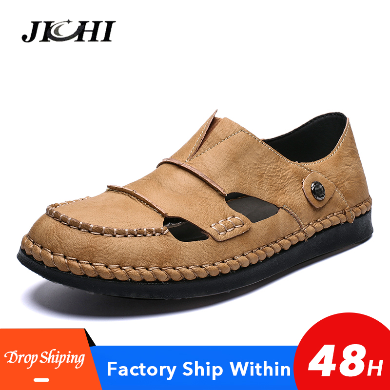High Quality Men Shoes Comfortable Lightweight Mens Summer Shoes Sandals Summer Sandals Men Flat Fashion Big Size 39-48 Rubber